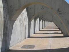 vanishing point (nickherber) Tags: shadow wall concrete vanishingpoint spain pattern shadows cement perspective sidewalk walkway malaga retainingwall