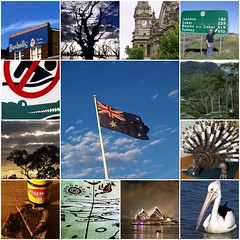 My Australia (Bruce Cooke) Tags: sunrise bush fdsflickrtoys oz flag australia olympus pelican croc aussie aboriginal operahouse twenty soh 2007 echidna vegimite bendigo 20k bushells e500 menindee cobar madphotographer