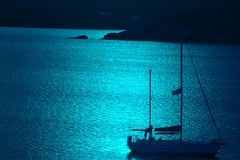 Blue Ship (cwgoodroe) Tags: blue summer sun hot beach water st island bay boat cool sand surf ship thomas vessel surfboard sail stthomas humid pentaxist