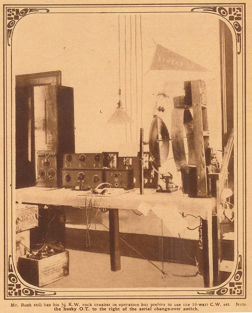 Amateur radio 4FB, Athens, Ga., 1924