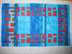 Rectangles Border Afghan 001