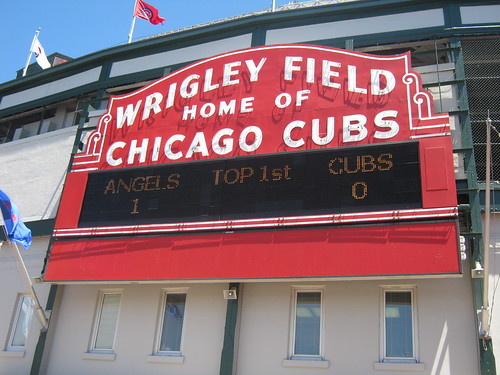 The Famous Sign - Los Angeles Angels of Anaheim at Chicago Cubs 19 June 2010