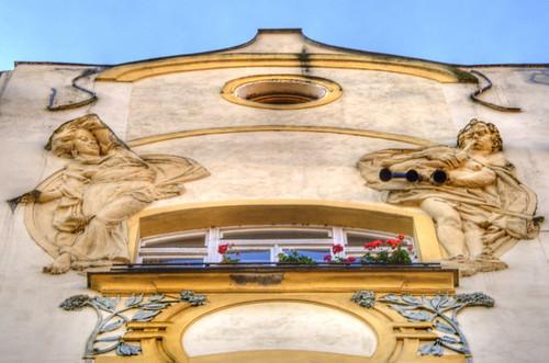 A facade detail. Prague. Detalle de una fachada. Praga