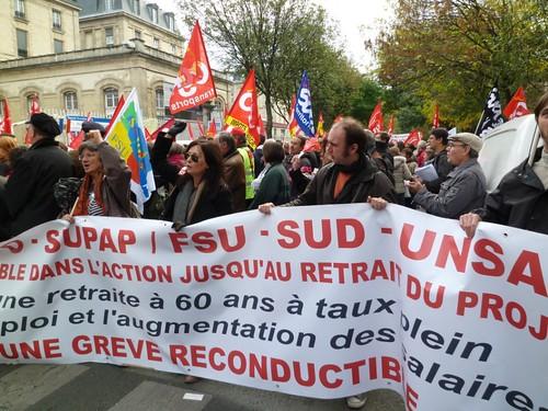 1022法國罷工遊行12