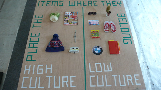 1st test high/low culture board