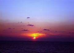 sunset in kilyos istanbul