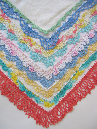 Handkerchief Edging Free Knitting Crochet Pattern - KarensVariety.com