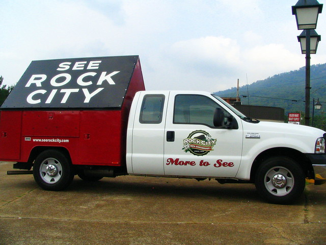 the See Rock City ad truck