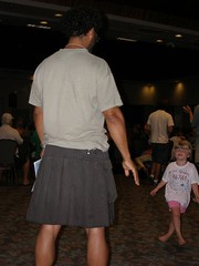 Carl dancing with young Friend (v_julye) Tags: pacific meeting 2007 yearly