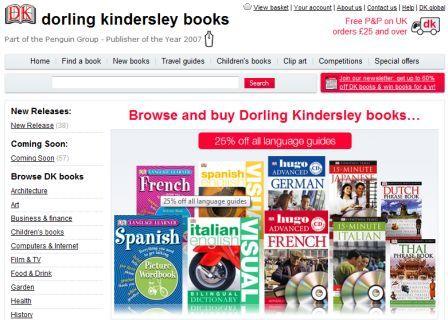 New Dorling Kindersley homepage
