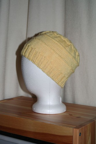 Chemo Hat in Knit Picks Shine Sport - Butter