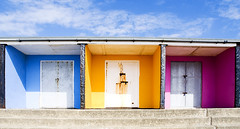 colour garages (nuttallp) Tags: colour beach hut postindustrial bexhill lockups coodenbeach beachgarages theylooklike