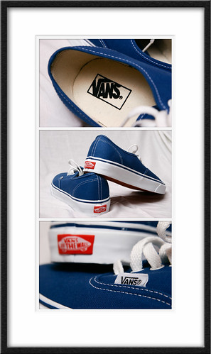 Authentic Navy Blue Vans triptych; ← Oldest photo