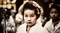 Little matsuri girl (manganite) Tags: girls portrait people cute topf25 colors face fashion festival japan kids digital vintage children geotagged asian japanese nikon asia tl traditional young style chiba  nippon desaturated d200 nikkor dslr matsuri nihon narita kanto japanesegirl 50mmf18 utatafeature manganite nikonstunninggallery 25faves naritagionmatsuri abigfave date:year=2006 geo:lat=35781196 geo:lon=140316267 date:month=july date:day=9 format:ratio=169