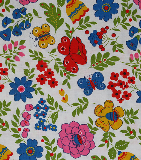 big floral fabric
