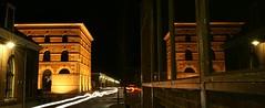 Old pumpbuilding in stereo (klaash63) Tags: light holland reflection building netherlands night licht photographer nacht sony nederland nightshift alfa shipyard 700 reflexions gebouw denhelder reflectie fotograaf spiegeling heiligenberg a700 rijkswerf nachtopname willemsoord klaasheiligenberg
