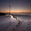 Sentinel II (Scott Howse) Tags: sunset england beach bay coast seaside sand post somerset trail lee filters graduated blueanchorbay 09h