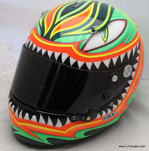 Front of E.J. Viso's Helmet