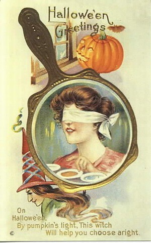 halloween_vintage-halloween-woman-blindfolded-pumpkin-mirror-card