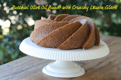 Zucchini Olive Oil Bundt with Crunchy Lemon Glaze - I Like Big Bundts