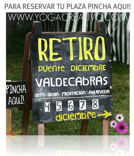 Valdecabras, Retiro Aero Yoga. DICIEMBRE 2010