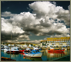Any Port In A Storm (Finntasia) Tags: sea sky storm water clouds brewing boats fishing bravo tea harbour cream butter dorset scone whatilove drama coolest soe bridport westbay supershot mywinners shieldofexcellence aplusphoto diamondclassphotographer finntasia excellentphotographer heartawards mytagshaveamindoftheirown nigelfinn
