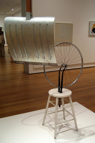 NYC - MoMA: Marcel Duchamp's Bicycle Wheel (third version) by wallyg
