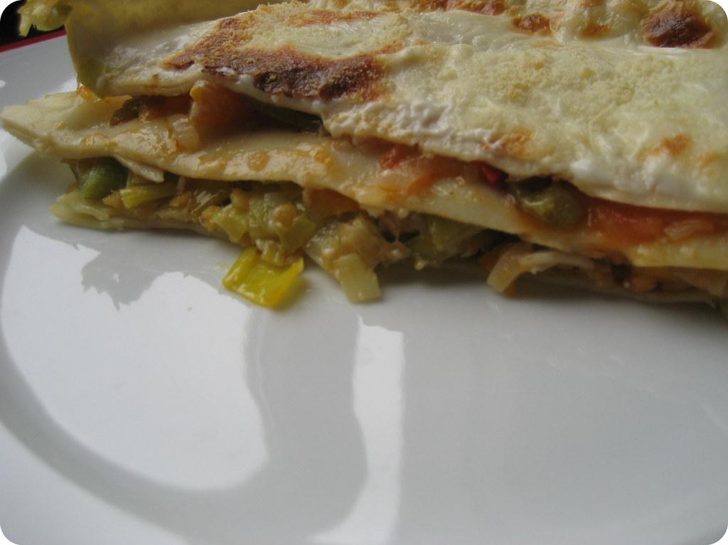 Lasagna final en el plato