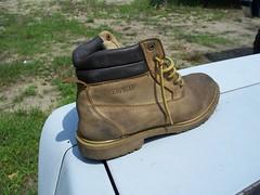 Closeup Of Boot (BACKYard Woods Explorer) Tags: boot waterproof novideo workboots abandonedshoes