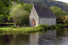 Gougane Barra (Keith Marshall) Tags: ireland lake reflection church canon eos cork gouganebarra photomatix tonemapped 1755is 400d canon400d