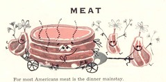 Meat: The Dinner Mainstay (Cowtools) Tags: vintage cookbook ephemera illo booklet recipes