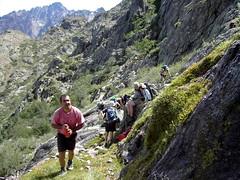 Dans la traversée du versant Scaffone : la source d'eau