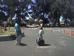 Nicole trying a Segway