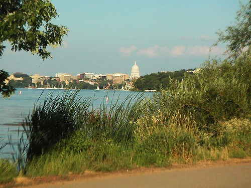 Lake Mendota and the Wisconsin State Capitol from the Howard Temin Lakeshore Path