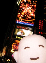 Spokelina enjoyed New York too! (Spok-spok) Tags: city travel urban newyork cute smile boston fun toy happy design robot cool soft sweden designer vinyl swedish plush softie cuddly kawaii plushie giggling spok designertoy designerplush spoks dotdotdash spokspok