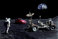 Moon Rover and Moon Car