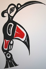 Hummingbird (Northwest haidaan) Tags: art george hummingbird native tribal haida storry