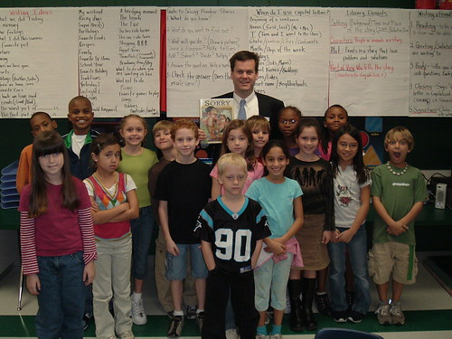 Always happy to visit our schools.  I enjoyed reading to Mr. Gilcrese's class at Ballentine Elementary.
