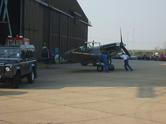 Putting the Spitfire to bed (cessna152towser) Tags: duxford imperialwarmuseum