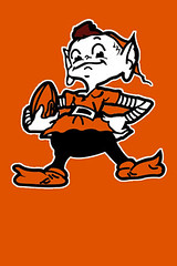 Cleveland Browns Gremlin Orange (Erik Holmberg) Tags: wallpaper apple football cleveland nfl browns iphone 320x480