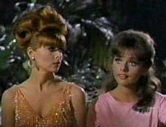 Tina Louise and Dawn Wells as Ginger and Mary Ann on Gilligans Island