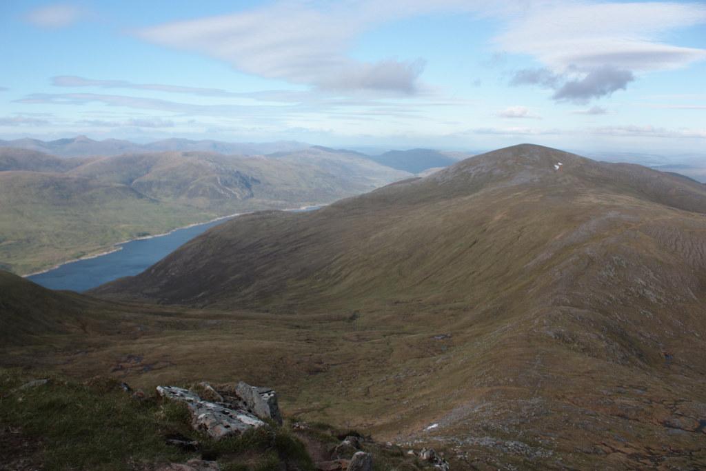 Toll Creagach above Loch Mullardoch