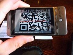 Scanning QR codes on business cards by EEPaul, on Flickr