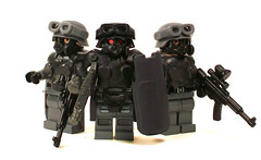 Weird War II Armored Troops (Group Shot) (*Nobodycares*) Tags: shot lego wwii group goggles worldwarii hazel ww2 soldiers guns juggernaut brickarms brickforge minifigcat weirdwarii stanhelms