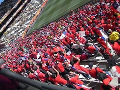 La Barra de Chile en Sudafrica (CervezaCristal) Tags: la cerveza mundial futbol cristal seleccion 2010 roja chilena sudafrica entretencion