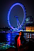 Sonia and the Eye (modenadude) Tags: city uk greatbritain bridge pink blue england woman 3 reflection building london water girl smile up wheel thames standing scarf canon river hair happy is shiny long downtown pretty unitedkingdom britain indian posing londoneye landmark excited ferris jacket curly adobe attractive gb tall flowing lit usm gigantic wavy f28 smily studyabroad lightroom 1755 550d t2i soniajoshi