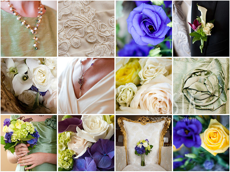 Green & Blue Wedding Details