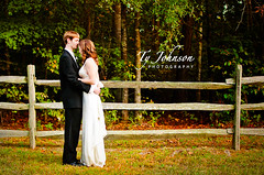 Wedding Portrait (Ty Johnson Photography) Tags: family wedding portrait people woman man female fence outside happy photography groom bride virginia nikon hug couple outdoor d90 35mmf18 nikond90
