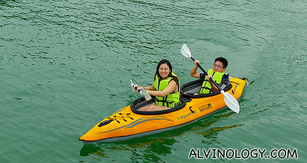 My sister and my cousin kayaking