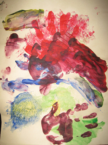 Finger Painting by G'tums (age 4)